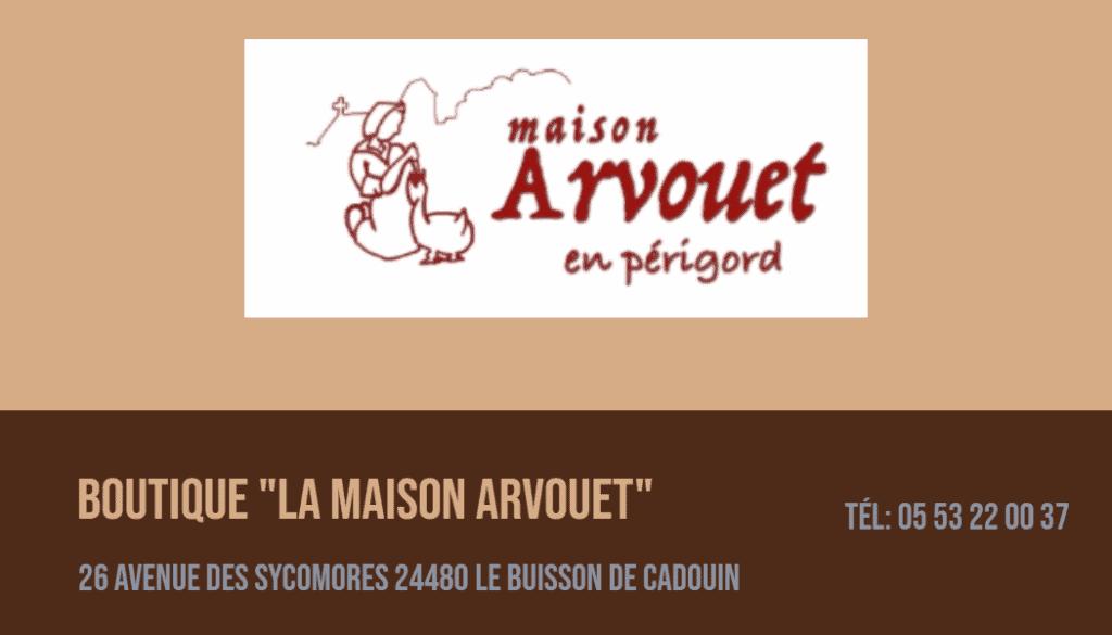 carte Maison Arvouet