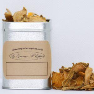 Curcuma séché en lamelles 25 grammes