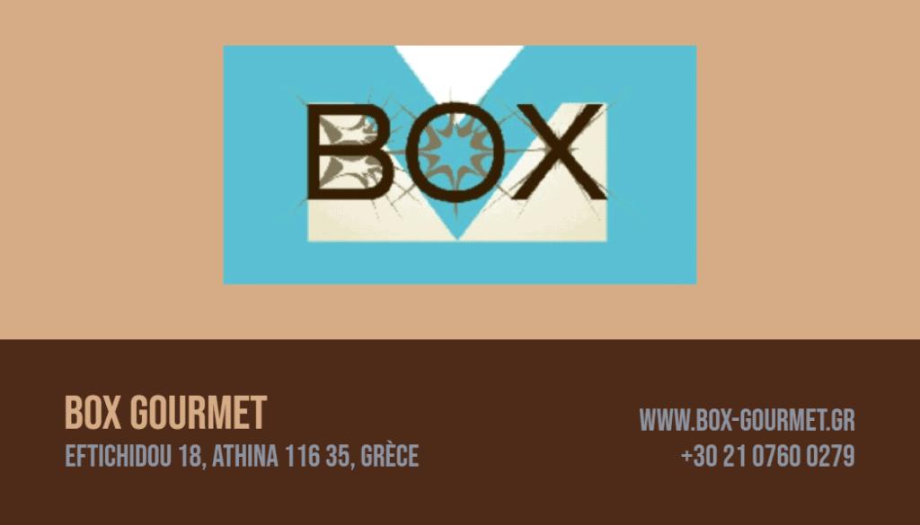 Carte de visite Box Gourmet